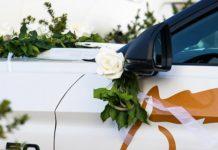 déco voiture de mariage